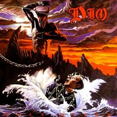 This is an album cover by the rock band dio. the album is called holy diver. dio's singer is former black sabbath frontman ronnie james dio. Greatest Album Covers, Rock Album Covers, Classic Album Covers, Thrash Metal, Arte Heavy Metal, Heavy Metal Music, Power Metal, Black Sabbath, Death Metal