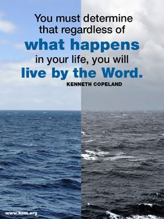 Live by the Word...Check out Kenneth Copeland online or your TV.