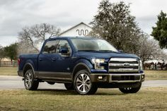 Blue Jeans Metallic 2015 Ford F-150 Truck King Ranch