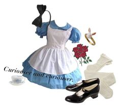 """☾ Alice in wonderland ☽"" by mochineko ❤ liked on Polyvore featuring DOMESTIC, Fogal and Burleigh"