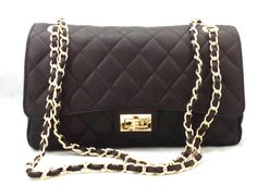 Lady S Handmade Quilted Leather Evening Bag In Black Made Italy With Luxury Designer Italian