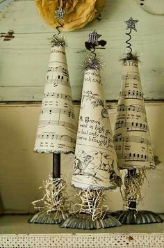 Music sheet trees deco