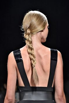 Proper Plaits The Spanish braids weaved by Souleiman at Donna Karan were austere, elegant, and somewhat architectural. Try wearing this style on the side to update your messy-hair-day game.