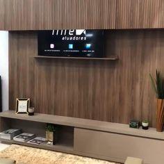Tv Cabinet Design, Tv Wall Design, House Design, Tv Unit Decor, Tv Wall Decor, Tv Escondida, Modern Tv Wall Units, Modern Tv Unit Designs, Modern Tv Room
