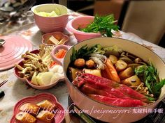 鬼嫁料理手帳: 自己調味 Sukiyaki すき焼き(附食譜) diy sukiyaki