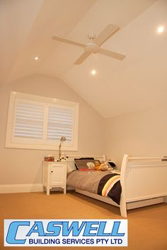 Second storey addition, attic style boys bedroom