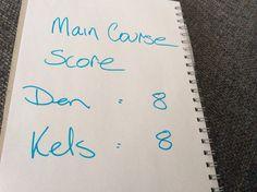 Main course scores