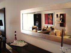 Espejo Silver. De la colección Living. #livingdesign Sideboard Cabinet, Floating Shelves, Sweet Home, Living Room, Interior Design, Cool Stuff, Architecture, House, Inspiration