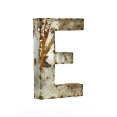 Letter E Metal Wall Art - Small - 10.5W x 18H in. - LETTER E SMALL
