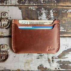 No. 3 Jefferson Fine Leather Card Holder Wallet