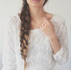 :) | via Tumblr #ombre,  hairstyle  #long hair,  #roses  sweater