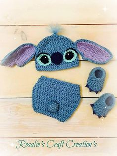 Crochet Stitch Prop Outfit 0-3 month
