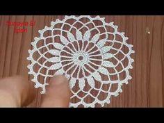 Crochet Mandala, Filet Crochet, Crochet Motif, Crochet Doilies, Easy Crochet, Crochet Hats, Crochet Stitches Patterns, Stitch Patterns, Crochet Videos
