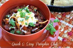 Mommy's Kitchen - Home Cooking & Family Friendly Recipes: 30 Minute Meal: Quick & Easy Pumpkin Chili