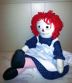 Raggedy Ann Doll...my mother bought a big handmade doll about like this one...too bad I didn't keep it