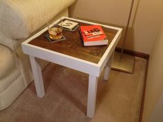 LIMITED EDITION Modern Rustic Barn Wood Top End by DandWElements, $115.00
