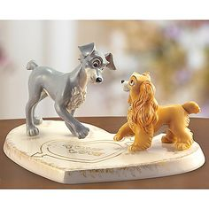 "Lenox/Disney Lady and the Tramp ""True Love"" Figurine"