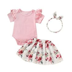 1719ddfa2932 Clover Floral Outfit. Perfect for Spring and Easter Future Baby
