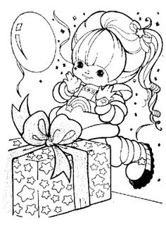 Rainbow Brite Got A Great Gift Coloring Pages