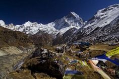 Annapurna Base Camp Trek  Slightly less strenuous than the ABC route, this trek also offers spectacular scenery with easy access. Trekkers pass thru the deep gorge between the mountains Hiunchili (6441m) and Machhapuchhre (6997m), and enter the sanctuary where there are 360 ° views of the Annapurna Range. The area is also home to the Gurung people and the renowned Gurkhas. Along the way trekkers will pass through beautiful birch and rhododendron tree forests,