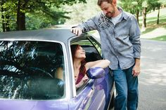 Muscle Car Engagement Photos | Shell Bailey Photography
