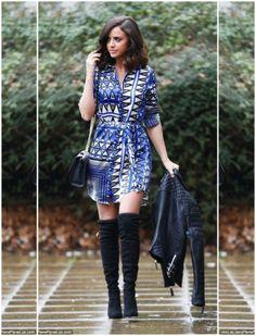 NEW-CELEBRITY-Lucy-Mecklenburgh-BLUE-AZTEC-PRINT-LONG-SHIRT-TOP-DRESS-8-18-UK