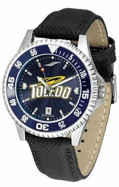 Toledo Rockets NCAA Mens Leather Anochrome Watch by SunTime. $79.95. Adjustable Band. Men. Officially Licensed Toledo Rockets Men's Leather Wristwatch. AnoChrome Dial Enhances Team Logo And Overall Look. Poly/Leather Band. Showcase the hottest design in watches today! A functional rotating bezel is color-coordinated to compliment your favorite team logo. A durable long-lasting combination nylon/leather strap together with a date calendar round out this best-selling tim...