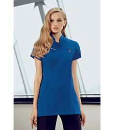 Ladies cobalt blue, one button healthcare tunic., concealed zip and action back for comfort. We are a supplier of nurse's and medical uniforms to the NHS, cosmetic surgeries, dentists and private practices. Dental Uniforms, Staff Uniforms, Work Uniforms, Vet Scrubs, Dental Scrubs, Beauty Tunics, Salon Wear, Spa Uniform, What Should I Wear Today