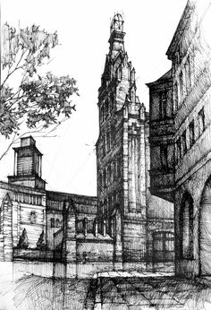 05-Fire-Department-Łukasz-Gać-DOMIN-Poznan-Architectural-Drawings-of-Historic-Buildings-www-designstack-co