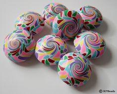 rainbow swirl beads - kpbeads