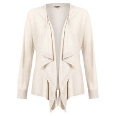 Buy Jigsaw Cashmere Silk Waterfall Cardigan, Stone Online at johnlewis.com £98 Looks close to lightest third base