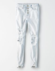 Shop Women's High-Waisted Jegging Crop at American Eagle to find your new favorite fit. Cute Ripped Jeans, Torn Jeans, Slim Jeans, Men's Jeans, Simple Outfits For School, Sperrys Men, Under Armour Men, Skirt Pants, American Eagle Jeans
