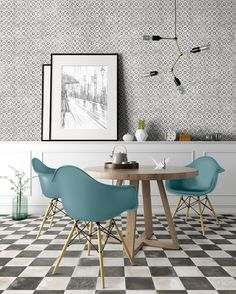 Tell your story with the 900 collection 📖 With a variety of harmonious patterns, the collection captures the delightful charm of hand-crafted maiolica tiles and brings artful romance to your home 💞  Bathroom Floor Tiles, Wall And Floor Tiles, Wall Tiles, Cement Tiles, Black Interior Doors, Contemporary Interior Design, Color Tile, Tile Patterns, Dining Table