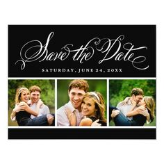 Photo Save the Date Postcard | Calligraphy Script 4.25x5.5 Paper Invitation Card