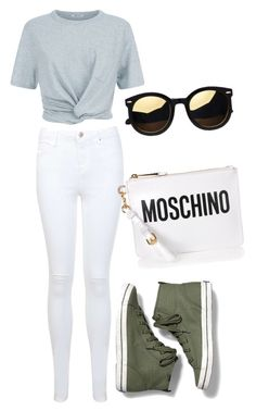 """""""Inverted triangle casual"""" by nikita-tuteja on Polyvore featuring T By Alexander Wang, Miss Selfridge, Keds and Moschino"""