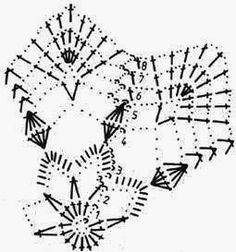 Afbeeldingsresultaat voor schemy na háčkované zvonečky Crochet Snowflake Pattern, Crochet Stars, Crochet Motifs, Form Crochet, Crochet Snowflakes, Crochet Diagram, Afghan Crochet Patterns, Diy Crochet, Crochet Doilies