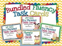 Bundled Fluency Task Cards - Great fluency practice to work on repeated reading and reading with expression.  $
