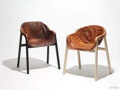 Hardened Leather Chair by Nikolaj Steenfatt