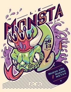 El monstruo de Le Monsta – Blog de diseño gráfico y creatividad.