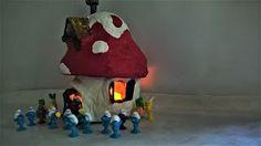 Pomysły plastyczne dla każdego, DiY - Joanna Wajdenfeld: Domek dla smerfów ze słoika - pojemniczek na zabawki
