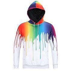 Ayliss® Fashion Damen 3D Druck Sweatshirt Kapuzenpullover Digital Print Pullover Langarm Top Jumper Shirt Hoodies