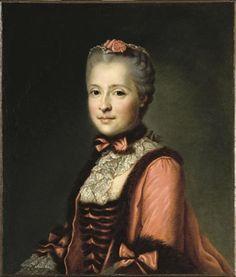 Marie-Josèphe de Saxe, Dauphine de France,(1731-1767), 1747 by Jean-Baptiste Greuze (1725-1805)