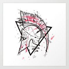 Spartan Helmet Handmade Drawing, Made in pencil and ink, Tattoo Sketch, Tattoo Flash, Blackwork Art Print by LucaGenArt - X-Smal Tattoo Design Drawings, Tattoo Sketches, Tattoo Designs Men, Drawing Sketches, Flash Art Tattoos, Gladiator Tattoo, Kunst Tattoos, Bild Tattoos, Spartanischer Helm