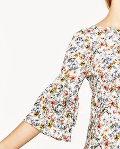 Image 6 of FLORAL PRINT DRESS WITH FRILLED SLEEVES from Zara