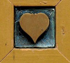 Heart Of The Matter - Mixed Media Assemblage / Wood Collage - Celebratory - Romantic Love Keepsake  $40.00 USD