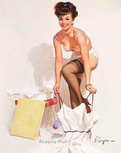 Stepping High! by Gil Elvgren (B&B, 1964) www.stores.eBay.com/GrapefruitMoonGallery