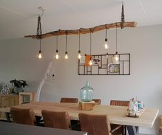 Rustic Light Fixtures, Rustic Lighting, Home Lighting, Decor Interior Design, Interior Decorating, Driftwood Chandelier, Lunch Room, Room Decor, House Design