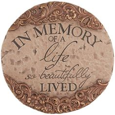 In Memory Of Decorative Stepping Stone