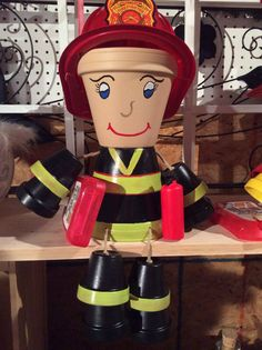 Fireman pot people by Makemeonedesigns on Etsy