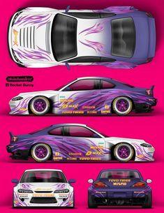 53 Ideas For Drift Cars Design Autos Nissan Silvia, Tuner Cars, Jdm Cars, Cars Auto, Nissan 180sx, Design Autos, Paper Model Car, Racing Car Design, Design Cars